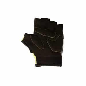 Azur kids bike gloves short finger back yellow black xchange sports
